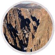Black Canyon Pinnacles Round Beach Towel