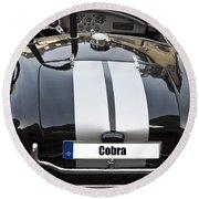 Black Cn Cobra Classic Car Round Beach Towel