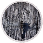 Black Darter Round Beach Towel