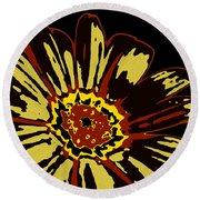 Black Eye Susanna Round Beach Towel