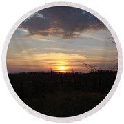 Black Hills Sunset IIi Round Beach Towel
