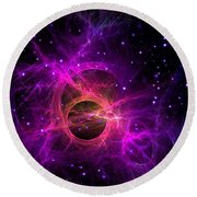 Black Hole In Space Round Beach Towel