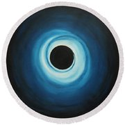 Black Hole Round Beach Towel by Sven Fischer