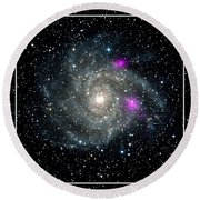 Black Holes In Spiral Galaxy Nasa Round Beach Towel by Rose Santuci-Sofranko