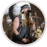Black Label Society - Zak Wylde Round Beach Towel