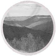 Black Mountain - Kentucky Bw Round Beach Towel