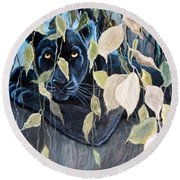 Black Panther 2 Round Beach Towel