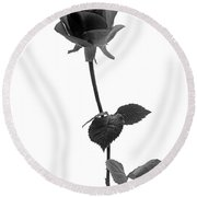 Black Rose Round Beach Towel