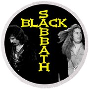 Black Sabbath 1978 Round Beach Towel