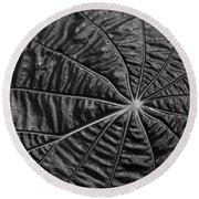 Black Star.. Round Beach Towel