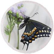 Black Swallowtail II Round Beach Towel