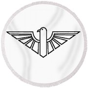 Black Thunderbird 2 Round Beach Towel