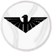 Black Thunderbird 3 Round Beach Towel
