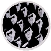 Black Tie Affair Round Beach Towel