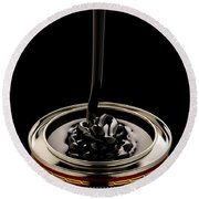 Black Treacle And Can Round Beach Towel