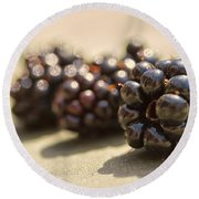 Blackberries Round Beach Towel