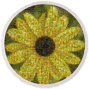 Blackeyed Suzy Mosaic Round Beach Towel