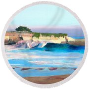 Blacks Beach - Santa Cruz Round Beach Towel