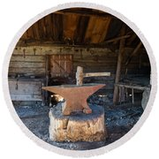 Blacksmiths Tools Round Beach Towel