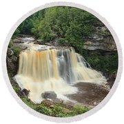 Blackwater River Falls West Virginia Round Beach Towel