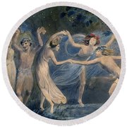 Blake: Fairies, C1786 Round Beach Towel