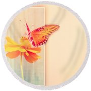 Blank Greeting Card Round Beach Towel