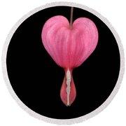 Bleeding Heart Flower Round Beach Towel