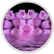 Bleeding Violet 2 Round Beach Towel
