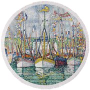 Blessing Of The Tuna Fleet At Groix Round Beach Towel