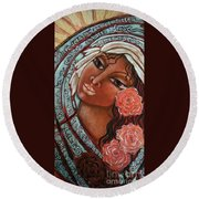 Blessings Of The Magdalene Round Beach Towel