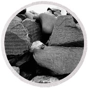 Blessings On Every Stone Round Beach Towel