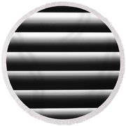Blinded By Shadows Round Beach Towel