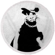 Bling Rat  Round Beach Towel