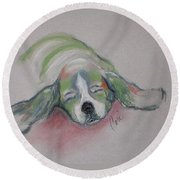 Blissful Dreams IIi Round Beach Towel