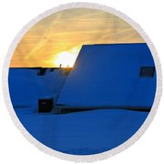 Blizzard Sunrise Round Beach Towel