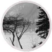 Blizzard Round Beach Towel