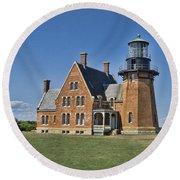 Block Island Southeast Lighthouse Round Beach Towel