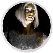 Blonde Highlights Round Beach Towel