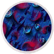 Blood And Tears Round Beach Towel