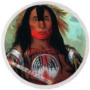 Blood Head Chief, 1832 Round Beach Towel