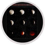 Blood Moon Lunar Eclipse 2014 Color Round Beach Towel