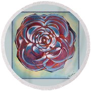 Bloom II Round Beach Towel