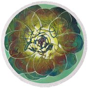 Bloom IIi Round Beach Towel