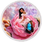 Bloom In The Hand Of The Father Round Beach Towel