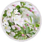 Blooming Apple Tree Round Beach Towel