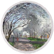 Blooming In Niagara Park Round Beach Towel