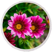 Blooming With Life Round Beach Towel