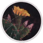 Blossom And Needles - Art By Bill Tomsa Round Beach Towel