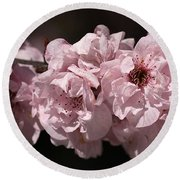 Blossom In Pink Round Beach Towel