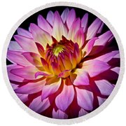 Blossoming Flower Round Beach Towel